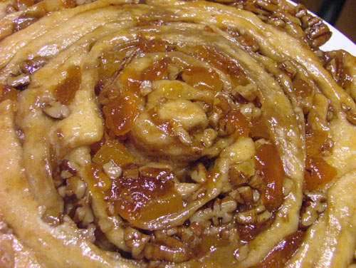 Apricot Pecan Spiral Coffee Cake