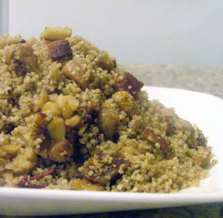 Maple Fig Couscous with Toasted Walnuts and Bacon