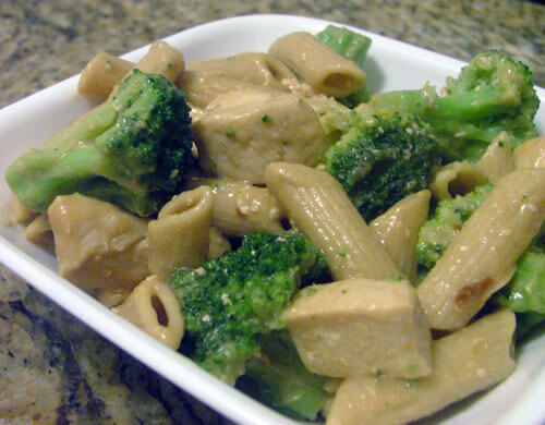Peanut Sauce Pasta with Chicken and Broccoli