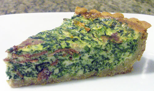 Protein-Packed Quiche with a Chickpea Crust