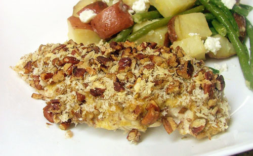 Pecan Crusted Chicken with Lemon and Thyme