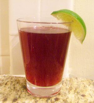 Pomegranate Lime Rickey