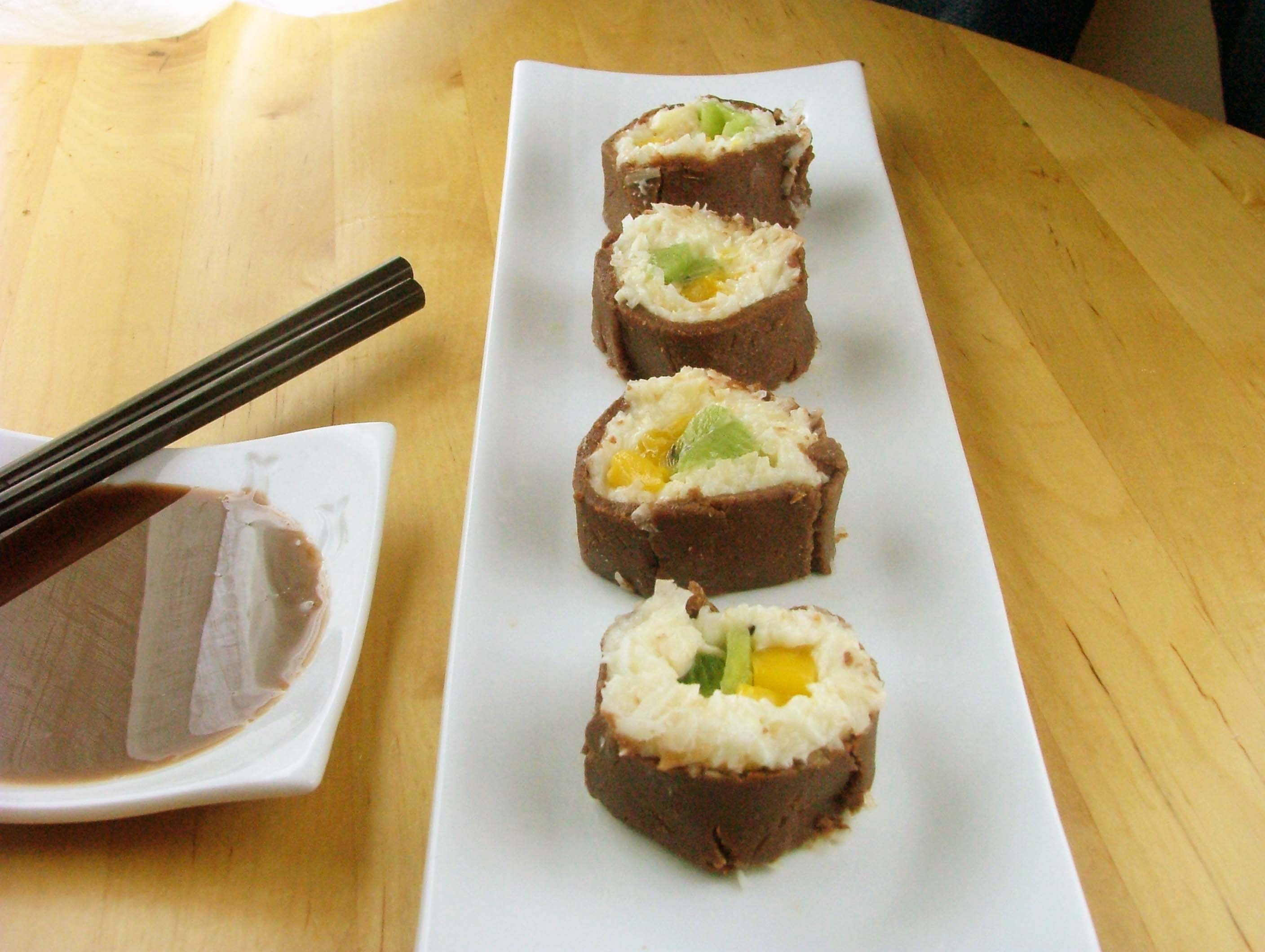 Coconut & Lime Cheesecake Dessert Sushi