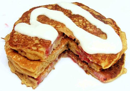 Strawberry Cheesecake Pancakes
