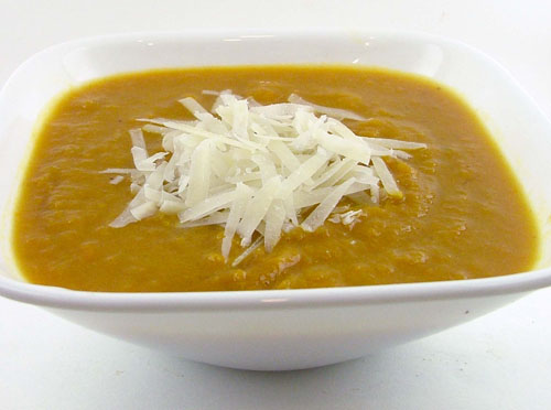 Roasted Yellow Pepper and Leek Soup