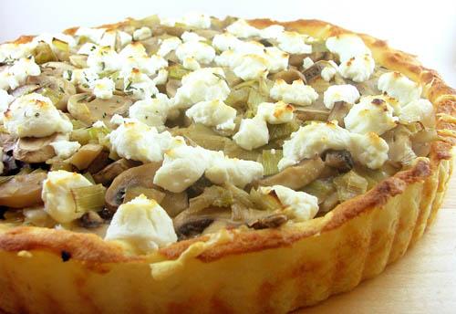Mushroom Tart with a Mashed Potato Crust