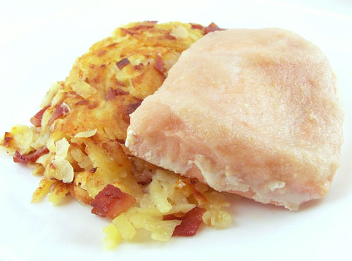 Pear Glazed Salmon with a Potato, Parsnip, and Bacon Hash