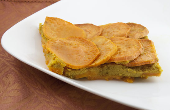 Curried Chickpea Sweet Potato Squares