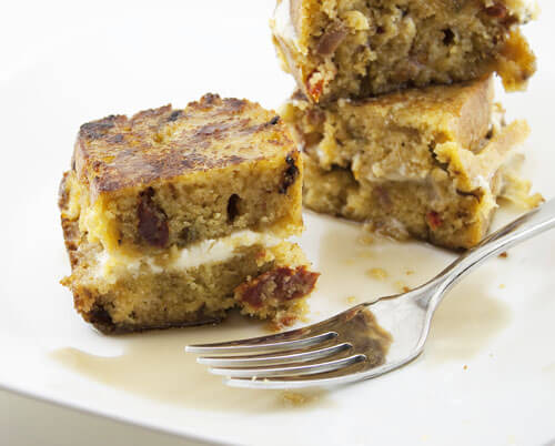 Mascarpone Stuffed Cornbread French Toast