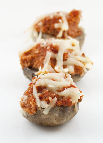 Almond and Red Pepper Stuffed Mushrooms
