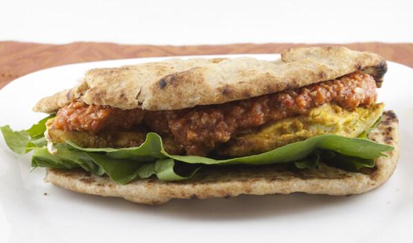 Chicken Tikka Masala Naanwiches