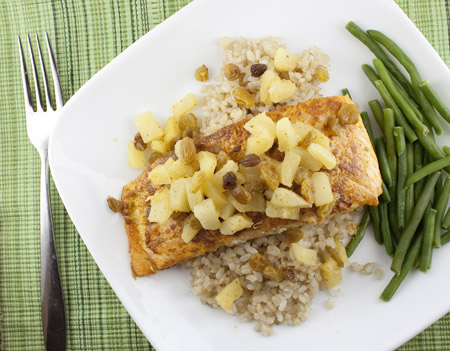 Indian Spiced Salmon with Pineapple Chutney