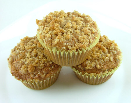 Apple Cardamom Crumble Muffins