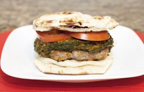 Indian Saag Naanburgers