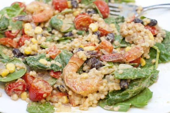 Avocado Ranch Israeli Couscous Salad