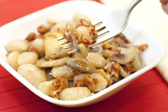 Gnocchi with Pancetta, Mushrooms, and Gruyere