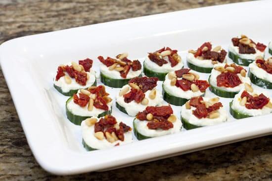 Mediterranean Cucumber Appetizers