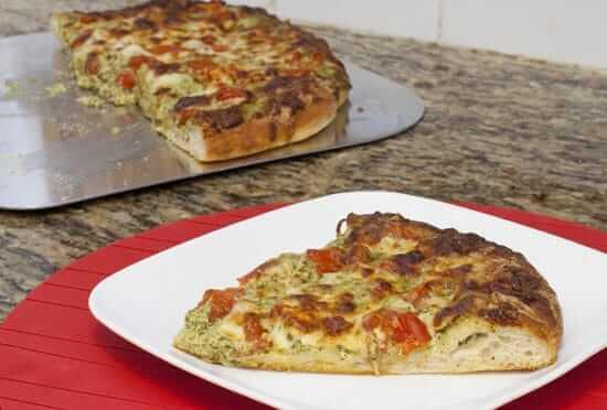 Pesto Goat Cheese Pizza