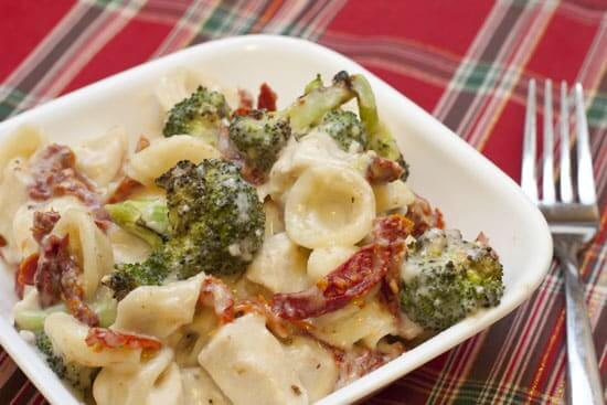 Christmas Mac & Cheese (aka Three Cheese Mac & Cheese with Roasted Broccoli and Sun Dried Tomatoes)