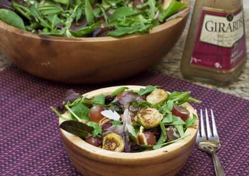 Roasted Brussels Sprouts Salad with Grapes