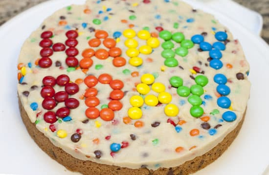 M&M Cookie Dough Tart
