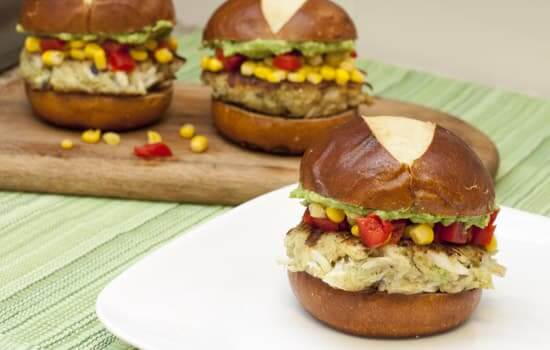 Avocado Crab Cake Sliders