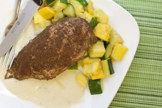 Blackened Chicken Breasts with Gorgonzola Sauce