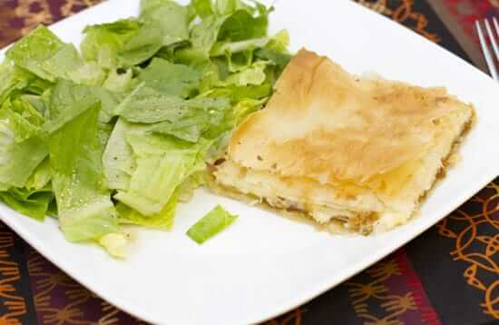 French Onion Phyllo Squares