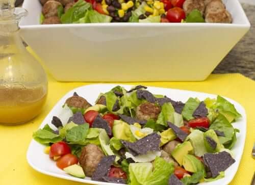 Southwestern Mini Meatball Salad