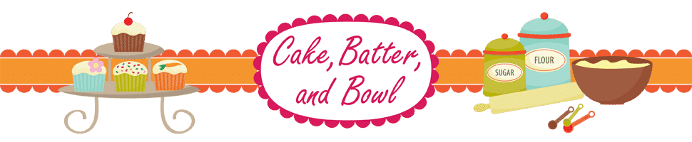Cake, Batter, and Bowl