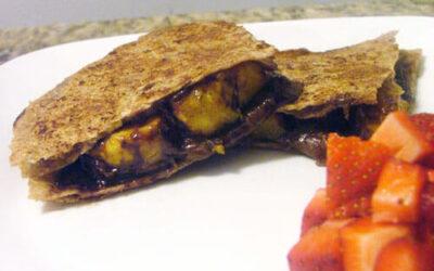 Caramelized Plantain Dessert Quesadillas with Nutella